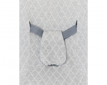 Babywelle white, grey fabric cover